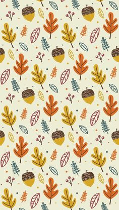 Wallpaper iPhone autumn pattern ⚪️                                                                                                                                                                                 More