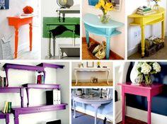 Idéer til at bruge sofaborde og spiseborde på nye måder… DIY - Plus Color maling - farver