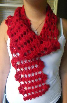 INSTANT DOWNLOAD PDF Bruges Lace Scarf Crochet Pattern