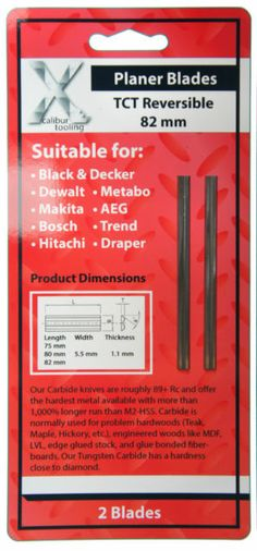"82mm 3 1/4 "" Carbide Reversible Planer Blades Dewalt-makita-bosch-b&d-hitachi"