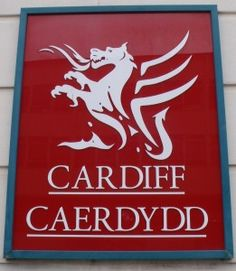 Welsh language sign in Cardiff
