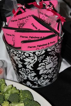 Black, White & Pink Birthday Party Ideas | Photo 19 of 32 | Catch My Party