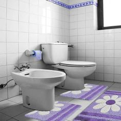 tappeto bagno margherita parure tre pezzi ribelle