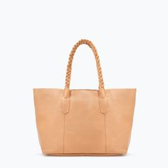 ZARA - SHOES & BAGS - COLORED LEATHER SHOPPER