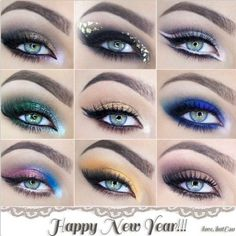Happy New Year with a different Eye makeup styles