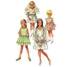 1970s Girls Dress  Vintage Pattern Simplicity 9344  by ErikawithaK