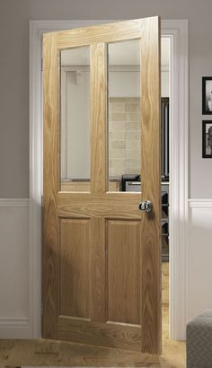 Internal Cottage Doors, Victorian Internal Doors, Solid Oak Internal Doors, Interior Door Styles, Oak Interior Doors, Oak Doors, Küchen Design, Door Design, Stair Paneling