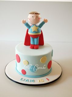 cutest superhero cake EVER!!!