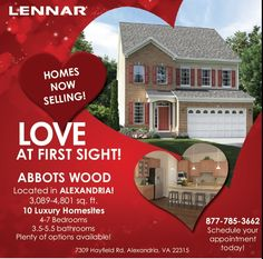 Abbots Wood- Luxury Single Family #Homes in #Alexandria! Now Selling! #newhomes #Virginia  #realestate