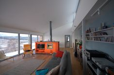 Image 23 of 27 from gallery of The Houl / Simon Winstanley Architects. Photograph by Simon Winstanley Architects Cozy Living Rooms, Living Spaces, Long House, Interior Architecture, Interior Design, Space Interiors, Architect Design, House Plans, House Design