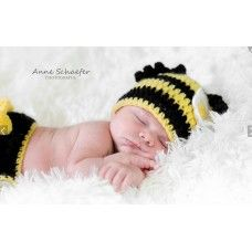 Baby set, Bumblebee hat and diaper cover, Newborn crochet set, Newborn baby outfit, Crochet baby outfit, Crochet baby clothes