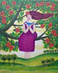 """""""Seguir el Vuelo""""/ Sonia Koch/ Acrílico sobre tela/ Ascended Masters, Disney Characters, Fictional Characters, Folk, Illustration Art, Disney Princess, Gaia, Angels, Scrap"""