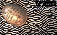 Moquettes A3C Carpets - Dessin Zèbre - Tissage axminster 80% laine 20% nylon - 4m de large