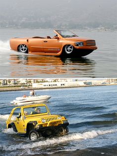 Watercars could easily have come from the same drawing board as the Can Am Spyder, that weird snowmobile-style tricycle that somehow made it into production. But they didn't. They  came from the mind of custom car and boat builder Dave March. Amphibious cars are nothing new but nobody makes them like March. His Watercar brand offers two models. One is a hotrod built around a Corvette motor and the other is a bolt-together kit that converts a variety of cars into badass boats.
