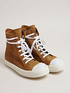 Rick Owens Men's Suede High Top Sneakers