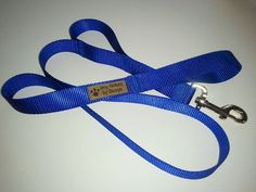 1 4ft  Double Handle Leash by DogCollarsByDesign on Etsy, $9.00 - available in charcoal