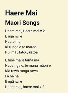 haere mai lyrics - Google Search Maori Songs, Activities For 5 Year Olds, Teaching Reading, Learning, Maori Art, Special Education Teacher, School Resources, Kids Songs, Song Lyrics
