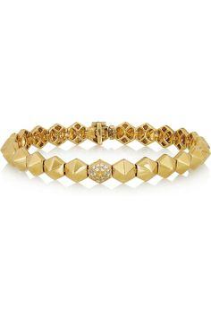 Anita Ko|Spike 18-karat gold diamond bracelet|NET-A-PORTER.COM 颇特女士