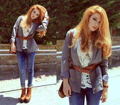 Maria Rondinella - Choies Jeans, Choies Top - DENIM & LACE