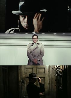 Le Samouraï by John Pierre Melville. About a hit-man named Jef Costello (Alain Delon). Truly a redemption story! So good!
