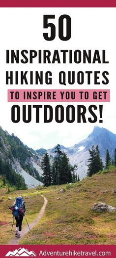 If you love hiking and exploring the outdoors but need some extra inspiration to set aside the never-ending to-do list, we have put together 50 Inspirational Hiking Quotes to Inspire You To Get Outdoors. #hiking #quotes #adventurequotes #inspirationalquotes #hike #hikingquotes Hiking Quotes, Travel Quotes, Franklin Falls, Winter Hiking, Get Outdoors, Adventure Quotes, Round Trip, Mountain Landscape, Wonders Of The World