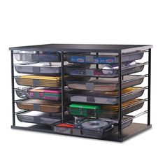 This versatile organizer expands your desk or home office storage capability. Keep papers, supplies and more organized with this smart system with removable mesh drawers. Each drawer has a flat surface on the front for labeling. Stackable design ...