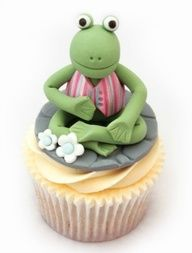 The Woodland Animals - Frog Frog Cupcakes, Kid Cupcakes, Animal Cupcakes, Yummy Cupcakes, Cupcake Cakes, Cupcake Ideas, Decorated Cupcakes, Cupcake Art, Cup Cakes