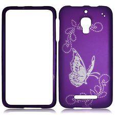 Purple Butterfly Slvr Case for Alcatel One Touch Fierce 7024W  Phone Cover |