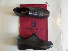 NWOB BRUNO MAGLI OXFORD Women's Shoes Size-39.0 Black Italy Very Good! #BrunoMagli #LoafersMoccasins