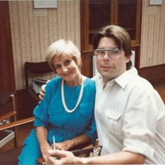 Stephen King and me at a London Writer's Workshop, in 1984.