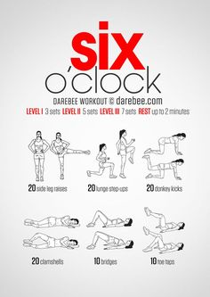 Instructions: Repeat each move with no rest in between until the set is done re