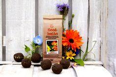 6 Seedballs in der Papiertüte. Sorte: Bienenstaatsbankett Saatmischung mit besonders nektar- und pollenreichen Arten. Wir tischen auf: Bienenweid...