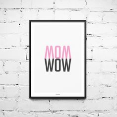 Original Print – Art Print Poster / Wow – a unique product by typealive on DaWanda - Home Decor