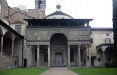 Filippo Brunelleschi, Pazzi Chapel, Santa Croce, Florence, begun 1420s, completed 1460s