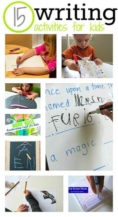 Great list of writing activities for kids.