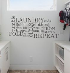 Hey, I found this really awesome Etsy listing at https://www.etsy.com/listing/116642459/laundry-wall-decal-subway-laundry-decal