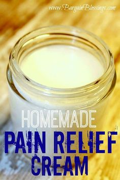 Home made pain relief cream