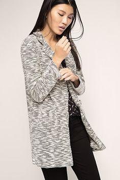 edc - Lichte bouclé-mantel kopen in de online shop