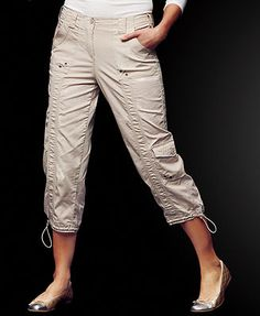 Pants Capris Cargo Capri ❤ liked on Polyvore featuring pants ...