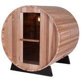 Found it at Wayfair - 4 Person Barrel Sauna