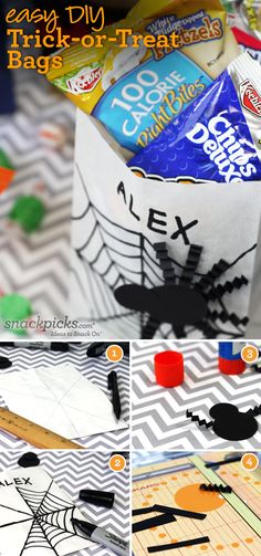 Easy DIY Halloween Trick-or-Treat Bags ~ my latest post for Kellogg's on @Snackpicks #Halloween #crafts #DIY #party