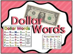 This package contains two printable posters in which each letter is assigned a monetary value. The goal is to find words worth exactly a dollar or a hundred dollars. Students finding dollars words will be adding decimals while students finding hundred dollar words will be adding whole numbers.