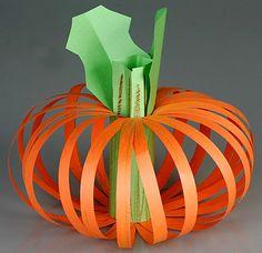 Paper pumpkin craft easy