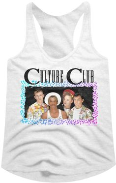 110e7023 Our Culture Club women's tank top t-shirt spotlights a classic photograph  of the band