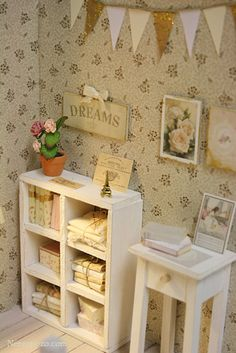 Soft white #shabby #miniature