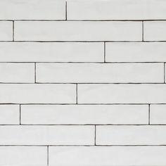 Handmade Natura Gloss White Long Subway Tiles 396×65