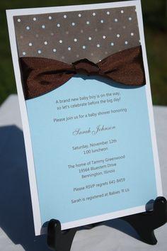 DIY Babyshower invites....simple but cute!