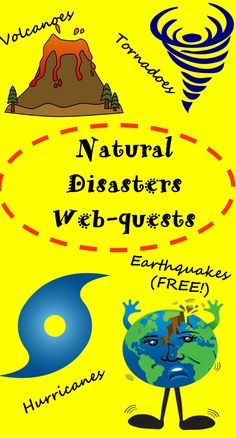 Let your students learn while having fun!  These interactive webquests provide excellent visuals, simulations, videos and nonfiction information about earthquakes, volcanoes, hurricanes and tornadoes!