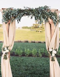 greenery wedding arch ideas for country weddings