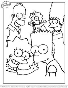 Potrait Of The Simpsons Family Coloring Page : Coloring Sun Family Coloring Pages, Cartoon Coloring Pages, Disney Coloring Pages, Coloring Book Pages, Simpsons Drawings, Cartoon Drawings, Easy Drawings, Winnie The Pooh Drawing, Dancing Drawings